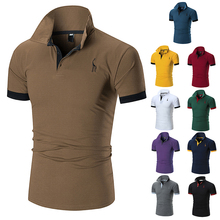男士T恤Men Leisure Cotton Tee Shirt male camisa polo shirts