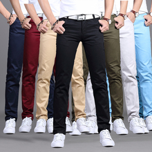 Spring all-in-one thin tooling straight slim casual pants