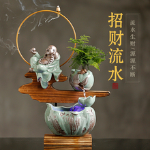 Creative water, decoration, Feng Shui, home office, living room, fish bowl, table decoration, opening gifts.