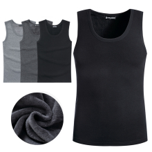 Warm, plush and thick cotton vest in autumn and winter