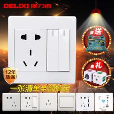 Розетка с выключателем Delixi CD230 10A