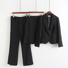 Foreign trade spring and autumn new black professional sagging suit pants