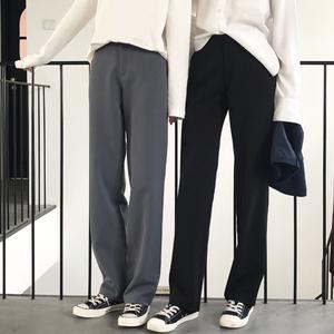 阔腿裤女春夏季高腰拖地裤工装西装裤宽松大码休闲直筒裤女长裤子西装裤女