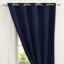 Grass hither p punch wear pure cotton curtains cover the photometric dark blue white color spot