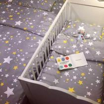 Nordic IKEA style ins explosions cotton newborn baby nursery bedding set of three parent-child