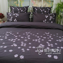 Specials dealing with foreign trade cotton bed 200 combed cotton embroidered duvet cover four-piece flower flower