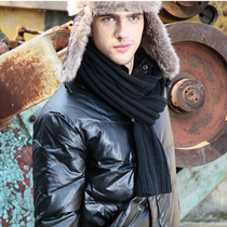 LANMER scarf mens Korean version of thickening wool snood trend in autumn and winter solid colors of outdoor winter shawl