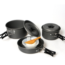 Genuine 2-3 Cookware outdoor 2-3 people high quality portable Camping stoves cooker Cookware non-stick Cookware