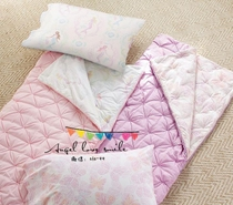 Flower child pink Mermaid prints their fingers warm sleeping bags baby anti kick
