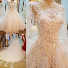 Wedding dress Fiber silk elegance ornaments