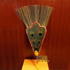 Тибетский чайник 藏密佛教修行法器 水壶贲巴壶 五眼孔雀毛吉祥草孔雀扇 长40cm