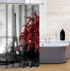 Eiffel tower shower curtain hooks