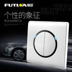 Выключатель двухклавишный Futina LED C04