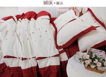 Foreign trade original quality soft yarn-dyed pure cotton embroidered set of four 1.5 beds 1.8 m beds on sale