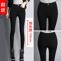 Winter and long and wool-Korean slim pencil stretch pants
