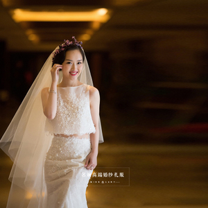 婚纱礼服新娘2017新款一字肩拖尾鱼尾齐地公主甜美梦幻奢华韩版女婚纱