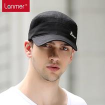 Lanmer summer Hat man Korean tidal flat Cap visor Cap Sun Hat natural outdoor leisure