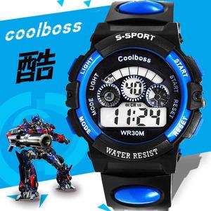儿童手表男孩电子表男小学生运动手表女童电子手表防水夜光数字式儿童手表