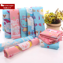 Cotton three-layer cloth towel boy towel baby cotton absorbent of children washing a small towel wholesale