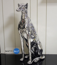 Limited orphan, European style plating, GREE Greyhound, large home decoration, living room, animal floor decoration.
