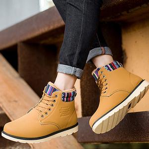 蒙蒂拉克冬季加绒保暖马丁鞋休闲男鞋高帮鞋子工装鞋伐木防水棉鞋高帮工装鞋