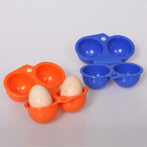 Outdoor camping portable egg egg cartons 2 Pack two egg case crush-proof storage box egg cartons