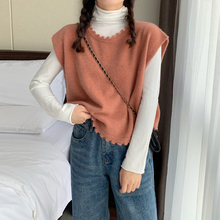 Korean version with basic high neck knit bottoming