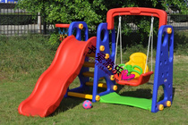 Fall of three-in-one multi-function slide combo slide swing family childrens swing and slide combo