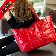 2013 Winter new Korean women padded shoulder bag space bag bag tide female bag big bag down