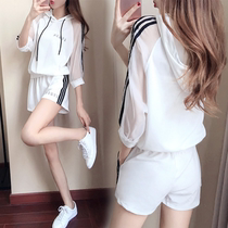 Korean gauze fringe in summer leisure fashion two set