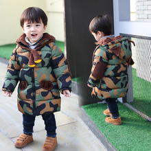 Children's clothing boys and girls winter baby cotton padded jacket 1 Boys 2 thickened 3 medium length 4 kids 5 down cotton padded jacket 6 years old