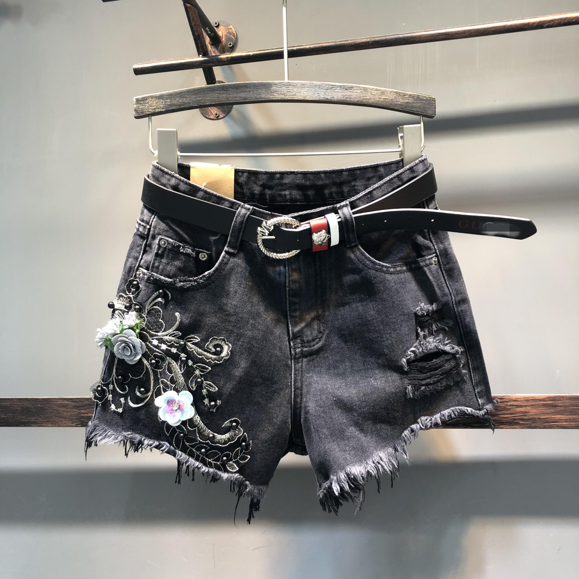 钉珠流苏牛仔短裤穿搭|钉珠流苏牛仔短裤搭配|钉珠流苏牛仔短裤推荐|意思- 淘宝海外