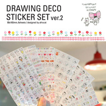 ���n���ľ� Drawing Deco Sticker Set ver.2 �T�f������ �N��6��