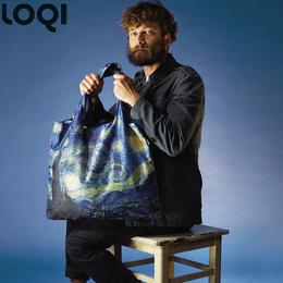 德国LOQI名画环保袋便携购物袋单肩旅行轻便折叠单肩包中包 星空