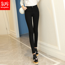 High waist pencil winter feet in autumn and winter pants