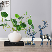 Chinese Vase Decoration deer ornament living room study creative bookcase bookcase modern wine cabinet furnishing household personality
