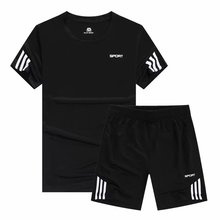 New sports suit, men's summer running suit, shorts, fast drying leisure wear, couple two years old