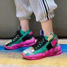 Girls' shoes 2019 new spring and autumn children's men's flying mesh face breathable coconut daddy shoes summer