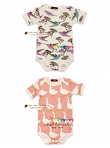 American big cotton triangle romper baby infant short sleeve piece bundles up costumes are defective