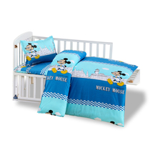Kindergarten quilts pure cotton Cushion cover three-piece summer bed bedding by cotton bedding young children baby babies