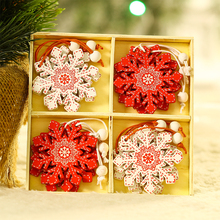 Christmas decoration Korean Nordic ins Christmas tree pendant accessories snow love angel wooden creative Pendant