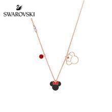 [新作]スワロフスキーMICKEY / MINNIEディズニーミニーマウスネックレス女性宝石