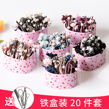 Children's hair accessories does not hurt the hair band pearl hair rope baby girls tire a hair rope hair circle headdress flower