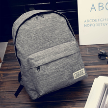 2019 new style Canvas Backpack middle school student schoolbag Korean academic style backpack fashion travel bag leisure double back