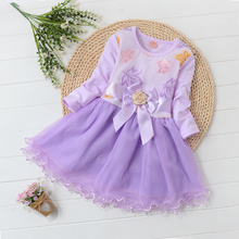Spring and autumn girl's new children's dress long sleeve Korean screen princess skirt baby autumn girl's dress