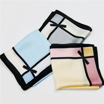 2017 new scarf and amazing silky bow decorative wild small square scarves women fashion spring scarf