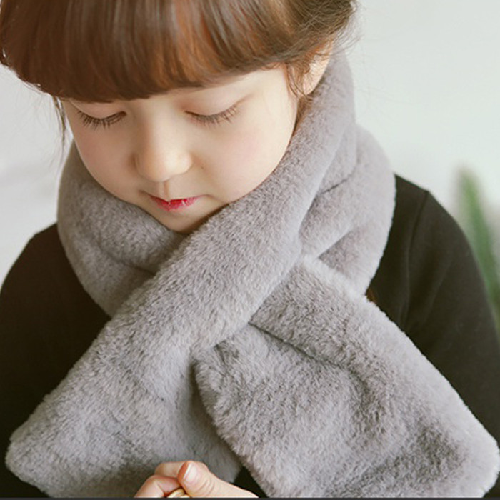 Child boy child baby infant imitation rabbit hair scarf