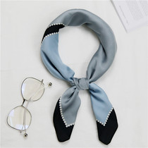 South Korean small square scarves women spring and fall fashion professional recreation Joker small decorative scarf scarves scarf