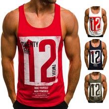 Male gym singlet tank tops men sport vest 男士纯色健身背心