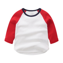 Children's long sleeve t-shirt men's and women's bottoming shirt 2019 new baby autumn 3-year-old children's student solid color 5 top 6